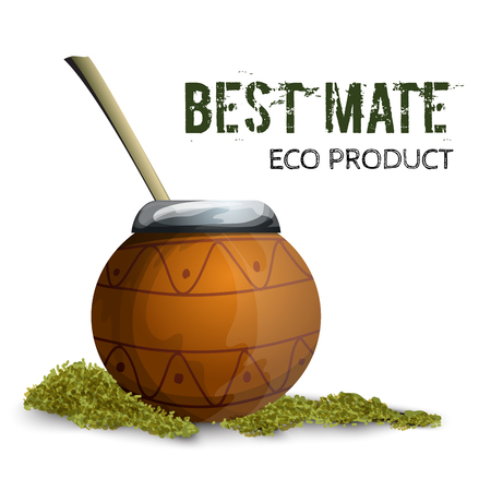 mate: Kalabas with a mate. The traditional drink of Argentina.