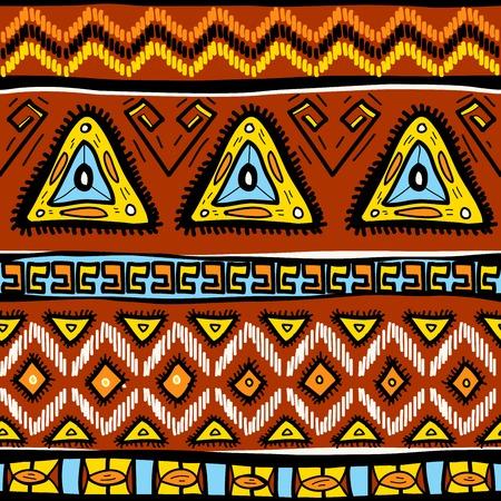 sin patrón, con formas geométricas étnicos motigsand estilizados Ilustración de vector