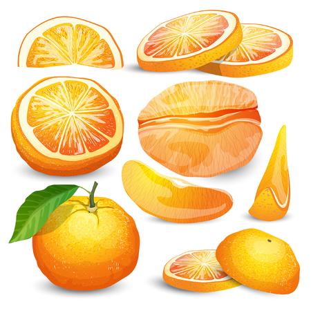 Orange Sammlung Standard-Bild - 73014448