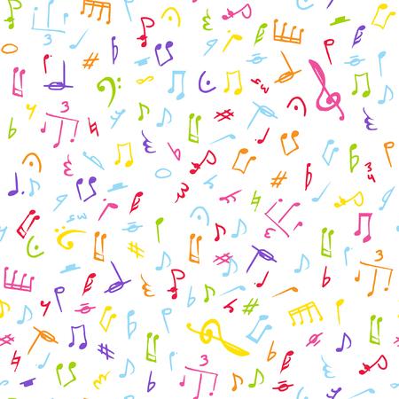 Music seamless pattern Illustration