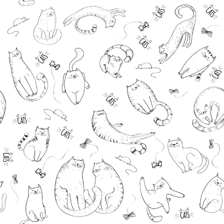 pattern: Seamless pattern with cats