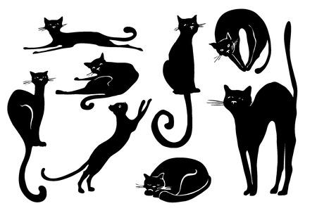 Black kittens icon.