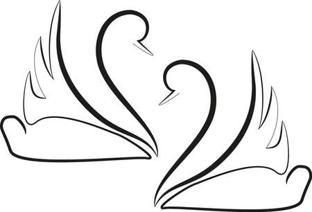 two swans Stock Vector - 25332312