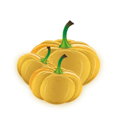 large pumpkin: three large pumpkin on a white background Stock Photo