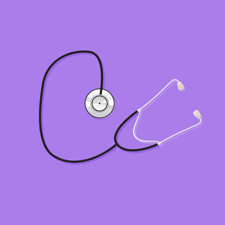 flu prevention: medical tool on a purple background