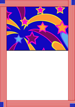 card with festive fireworks and a field for textΠVector