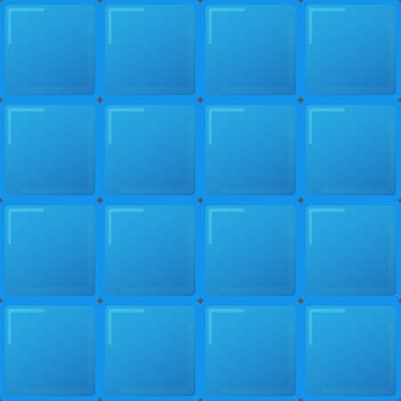 big blue tiles, seamless pattern Vector