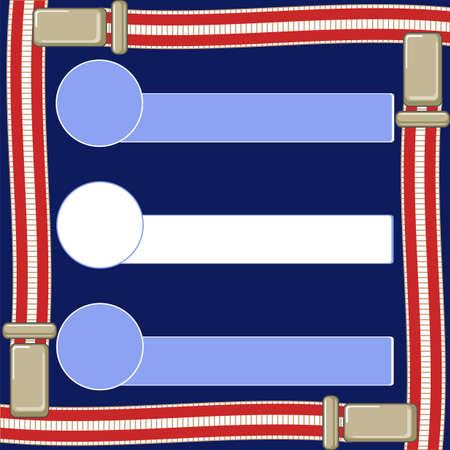 text box on a dark blue background and suspenders for trousersÂŒ