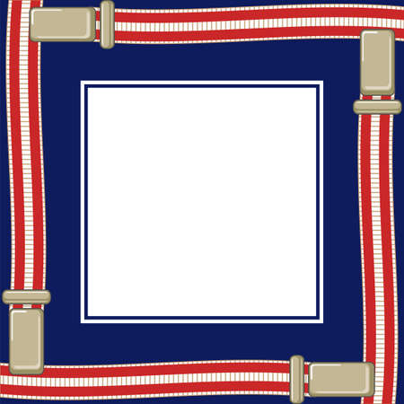 suspenders: text box on a dark blue background and suspenders for trousersŒ