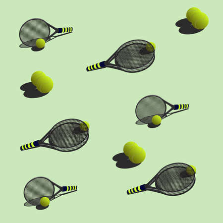 nimble: Tennis balls and rackets for tennis