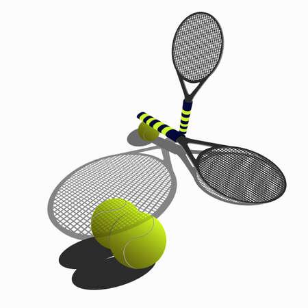 nimble: Tennis balls and rackets for tennis