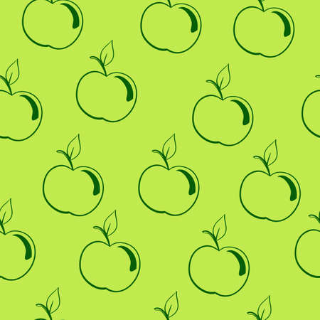 seamless pattern, background, fruit on a green background Vector