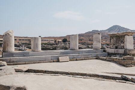 Agora des Italiens (Agora of the Italians) on Delos, Greece