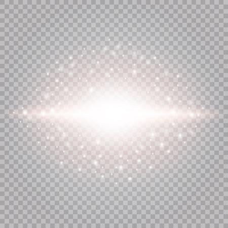Glow light effect vector illustration. Christmas flash Concept.