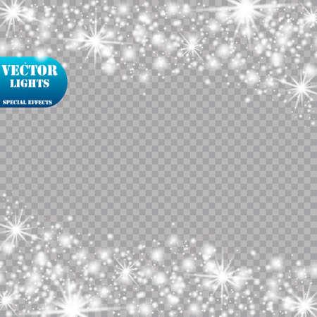 Glow light effect. Vector illustration. Christmas flash Concept.Eps10 Иллюстрация