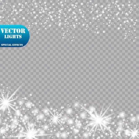 Glow light effect. Vector illustration. Christmas flash Concept.Eps10 Ilustracja