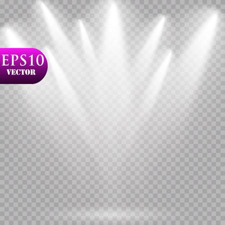 Vector Spotlights. Scene Light Effects Vector. EPS 10 Zdjęcie Seryjne - 114952122