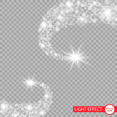A bright comet with . Falling Star. Glow light effect. Vector illustration.
