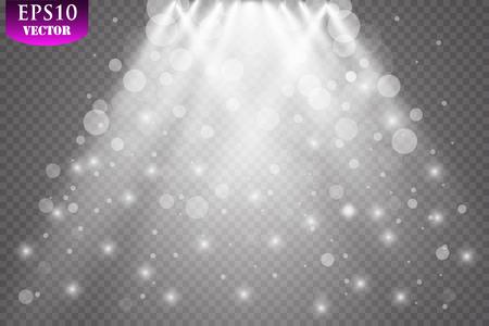 Vector Spotlights. Scene Light Effects Vector. EPS 10 Zdjęcie Seryjne - 114917002