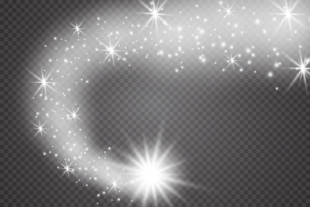 A bright comet with . Falling Star. Glow light effect. Vector illustration. EPS 10