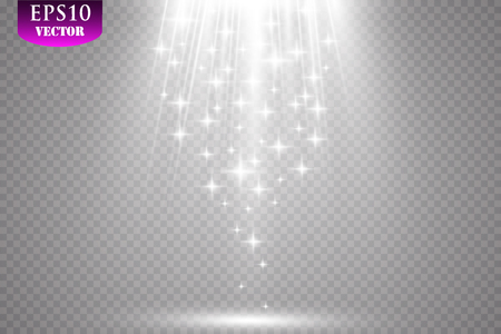 Vector Spotlights. Scene Light Effects Vector. EPS 10