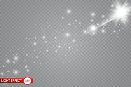 Glow light effect. Vector illustration. Christmas flash Concept.Eps10 일러스트