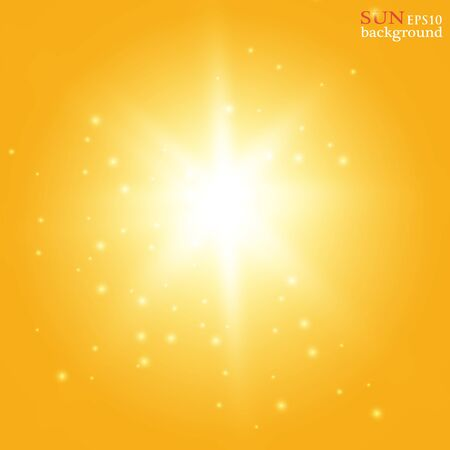 Vector transparent sunlight special lens flare light effect. Sun flash with rays and spotlight.Eps 10