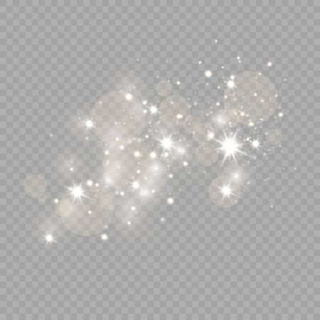 Glow light effect. Vector illustration. Christmas flash Concept. Иллюстрация