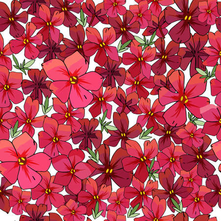 Seamless pattern with flowers isolated on white. Excellent print for greeting cards, clothes, bed linens, fabric, textiles, wallpaper, wrapping paper, gift box.