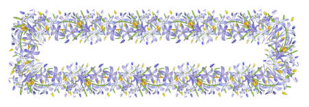 Vector had drawn floral templat. For romantic and easter design, announcements, greeting cards, posters, advertisement