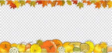 Set of autumn elements isolated on white background. Pumpkins, leaves, acorns, pumpkin pie. 矢量图像