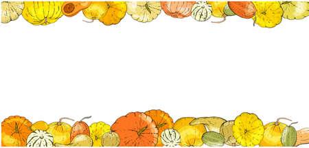 Set of autumn elements isolated on white background. Pumpkins, leaves, acorns, pumpkin pie. Vektorgrafik