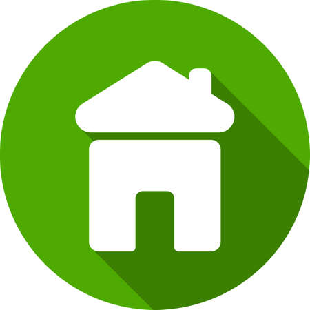 abode: Real estate concept. Small house - Vector icon isolated Illustration