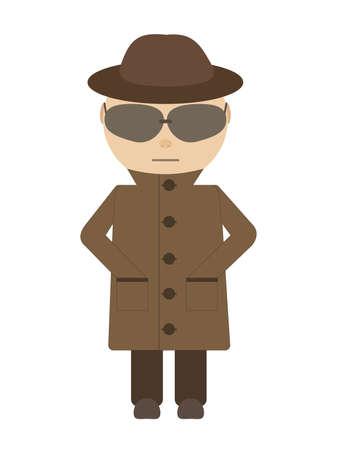 Spy - isolated Vekton character