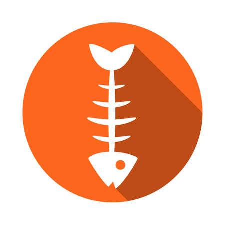 ridge: Fish icon vector. The icon of the fish bones. Fish skeleton icon. Fishing icon Illustration