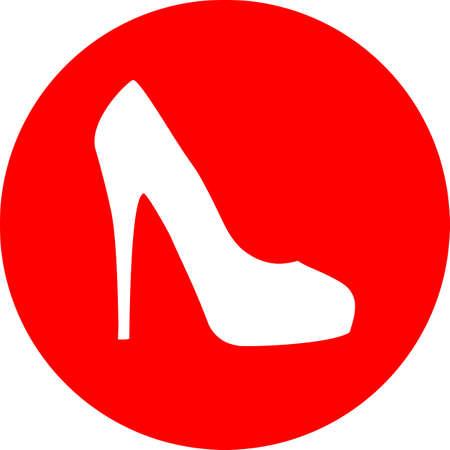 Red High Heel Shoe. Illustration
