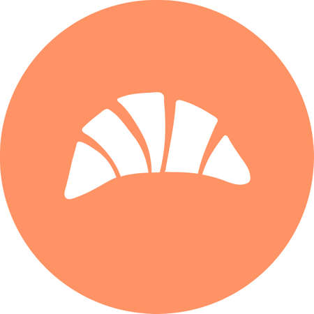 Bagel round vector baking icon. Bread products