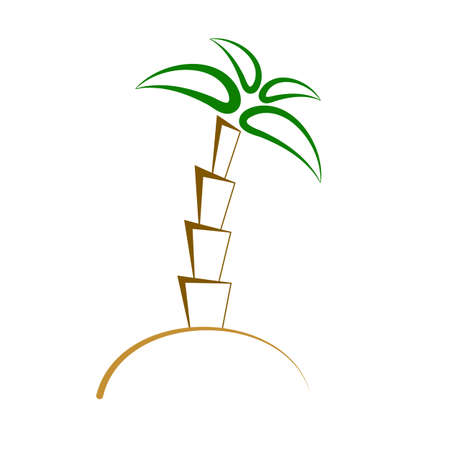 Palm isolated minimal single flat linear icon. Resort line vector icon flat design. Illustration