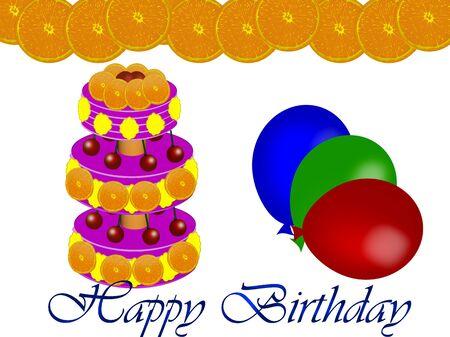 cake, celebration, balloons photo