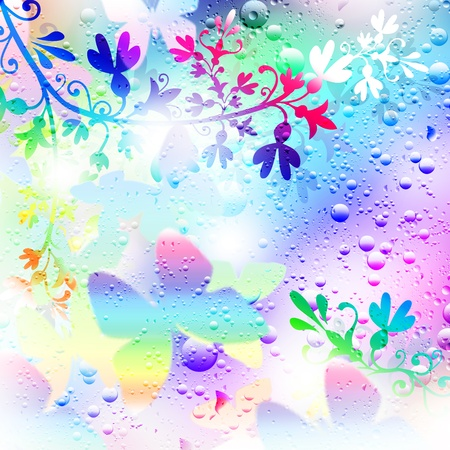Illustration background. Droplets of rain. Line. illustration