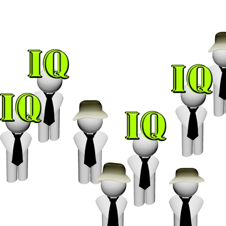 The intellectual level  IQ  Illustration Stock Illustration - 19983951