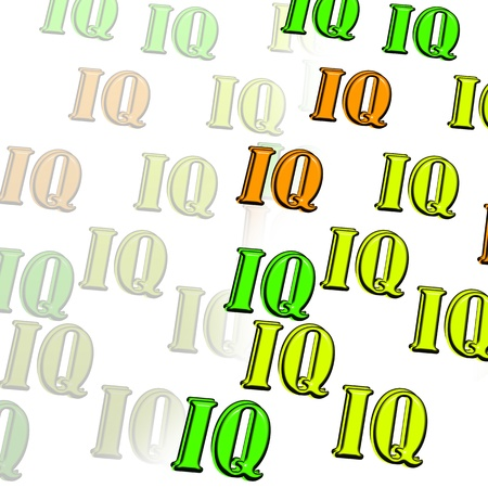 iq: The intellectual level  IQ  Illustration  Stock Photo