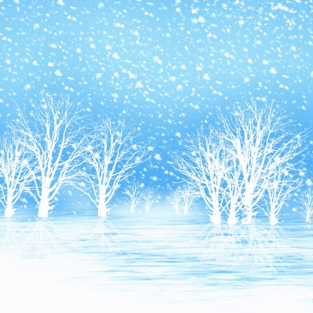 Winter landscape  Illustration  illustration