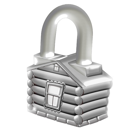 House. Lock. Illustration.