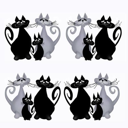Cats. Illustration. White background. Stock Illustration - 21901545