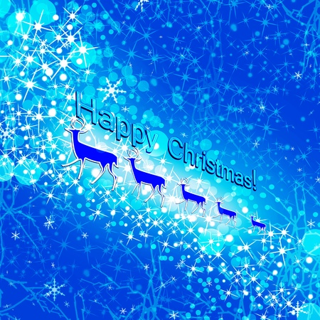 Christmas background. Deer. Illustration. illustration