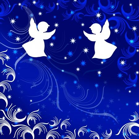 Angel. Natale. Illustrazione. Archivio Fotografico - 21995258