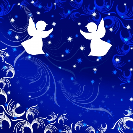 christian angel: �ngel. Navidad. Ilustraci�n.