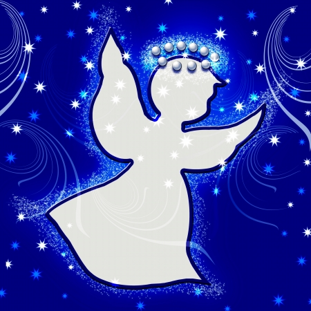 Christmas. Angel. Illustration. illustration