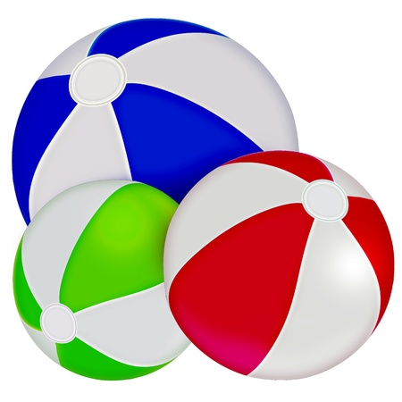 Inflatable balls. Sport. Illustration. illustration